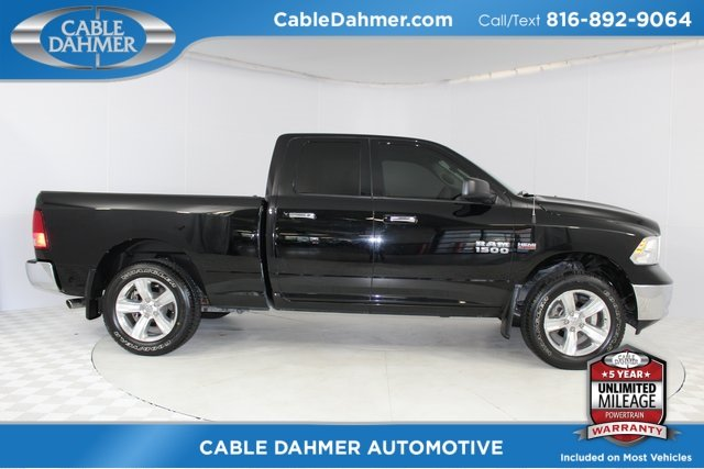 2014 Black Clearcoat Ram 1500 SLT 4 Door Automatic 4X4 Truck HEMI 5.7L V8 Multi Displacement VVT Engine