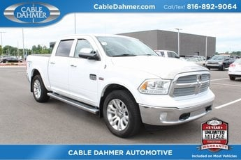 2013 Bright White Clearcoat Ram 1500 Laramie Longhorn Edition Automatic HEMI 5.7L V8 Multi Displacement VVT Engine 4X4 4 Door Truck