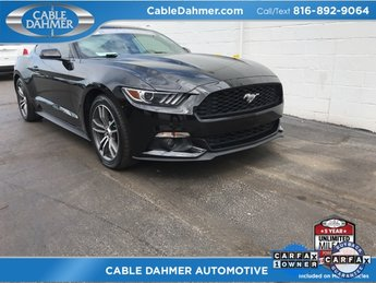 2015 Black Ford Mustang EcoBoost Automatic RWD Coupe