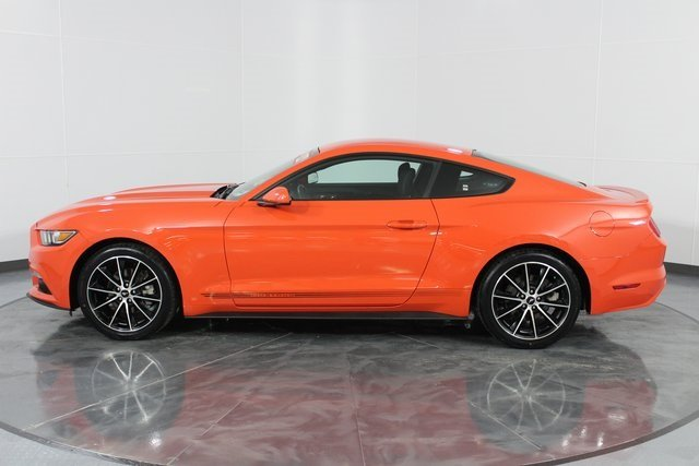 2016 Competition Orange Ford Mustang EcoBoost Automatic Coupe EcoBoost 2.3L I4 GTDi DOHC Turbocharged VCT Engine
