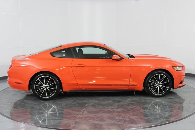 2016 Competition Orange Ford Mustang EcoBoost Automatic RWD Coupe 2 Door EcoBoost 2.3L I4 GTDi DOHC Turbocharged VCT Engine