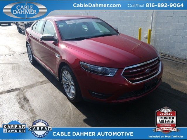 2017 Ruby Red Metallic Tinted Clearcoat Ford Taurus Limited Sedan Automatic 4 Door 3.5L 6-Cylinder SMPI DOHC Engine FWD
