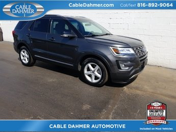 2017 gray Ford Explorer XLT SUV 4 Door FWD Automatic