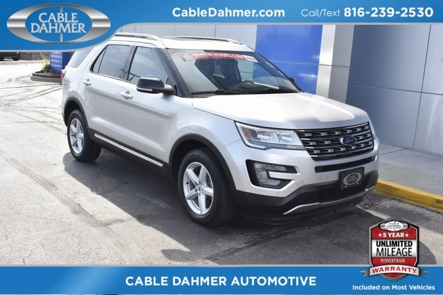 2017 Ingot Silver Metallic Ford Explorer XLT 4X4 4 Door 3.5L 6-Cylinder SMPI DOHC Engine Automatic SUV
