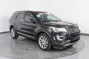 2017 Black Ford Explorer Limited SUV 4X4 Automatic 3.5L 6-Cylinder SMPI Turbocharged DOHC Engine 4 Door