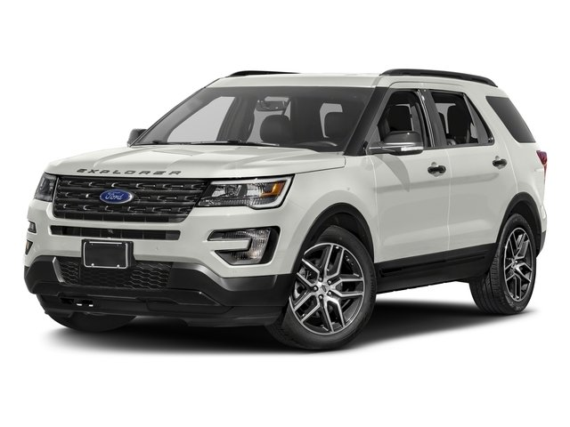 2016 White Platinum Metallic Tri-Coat Ford Explorer Sport 4 Door EcoBoost 3.5L V6 GTDi DOHC 24V Twin Turbocharged Engine SUV 4X4