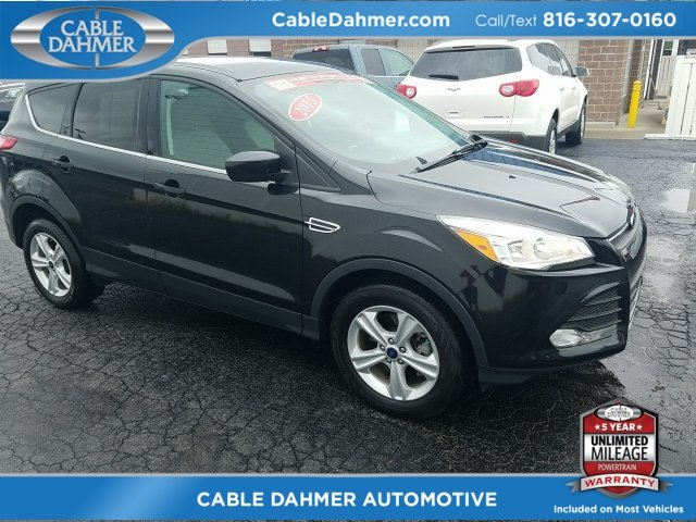 2015 Tuxedo Black Ford Escape SE SUV EcoBoost 1.6L I4 GTDi DOHC Turbocharged VCT Engine Automatic 4X4 4 Door