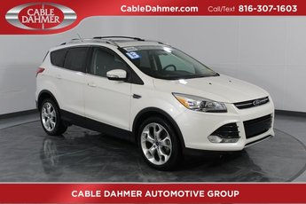 2013 WHITE Ford Escape Titanium 4X4 EcoBoost 2.0L I4 GTDi DOHC Turbocharged VCT Engine 4 Door