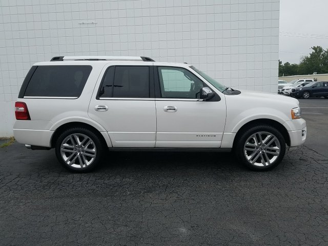 2015 White Platinum Metallic Tri-Coat Ford Expedition Platinum 4X4 4 Door Automatic