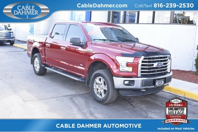 2016 Ruby Red Metallic Tinted Clearcoat Ford F-150 XLT 4X4 Truck 4 Door 2.7L V6 EcoBoost Engine