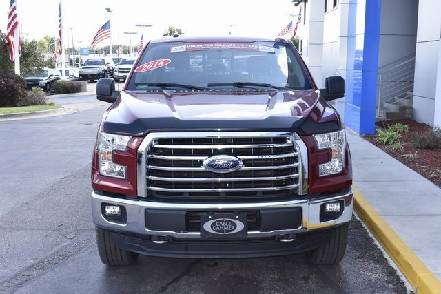 2016 Ruby Red Metallic Tinted Clearcoat Ford F-150 XLT Automatic 2.7L V6 EcoBoost Engine 4X4 Truck