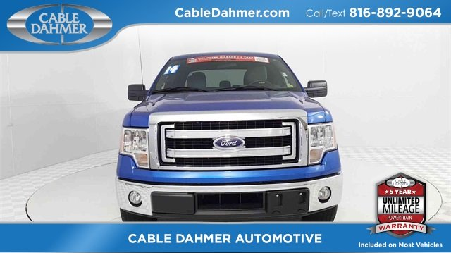 2014 Blue Ford F-150 XLT 4 Door EcoBoost 3.5L V6 GTDi DOHC 24V Twin Turbocharged Engine RWD