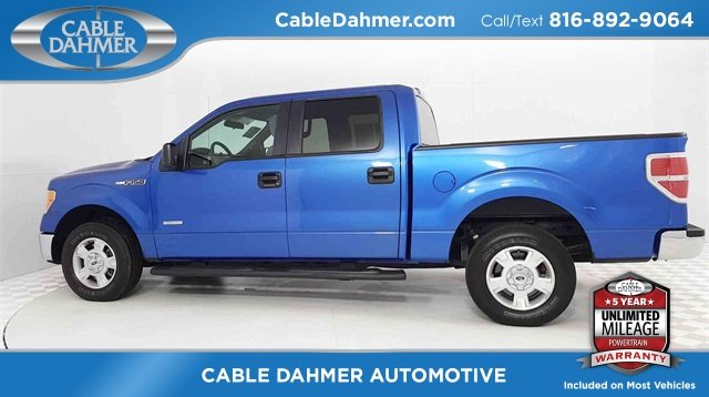2014 Blue Ford F-150 XLT Automatic EcoBoost 3.5L V6 GTDi DOHC 24V Twin Turbocharged Engine RWD Truck 4 Door