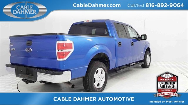 2014 Blue Ford F-150 XLT Truck Automatic EcoBoost 3.5L V6 GTDi DOHC 24V Twin Turbocharged Engine 4 Door