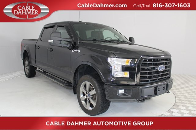 2016 Shadow Black Ford F-150 XLT 4 Door Automatic 5.0L V8 FFV Engine 4X4