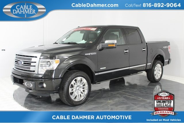 2013 Tuxedo Black Metallic Ford F-150 Platinum EcoBoost 3.5L V6 GTDi DOHC 24V Twin Turbocharged Engine 4 Door Truck Automatic