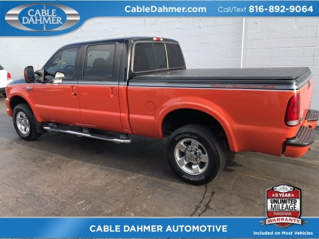 2004 Two tone Black and orange Ford Super Duty F-250 Harley-Davidson 4X4 Automatic Power Stroke 6.0L V8 DI 32V OHV Turbodiesel Engine 4 Door