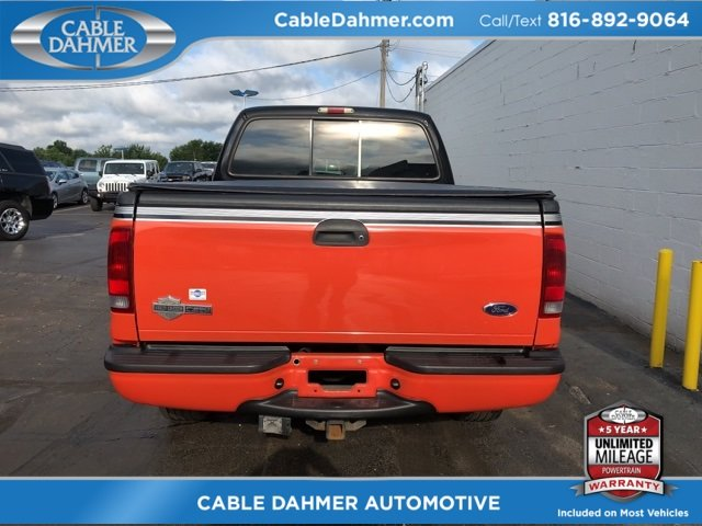 2004 Two tone Black and orange Ford Super Duty F-250 Harley-Davidson Automatic Truck 4X4 4 Door