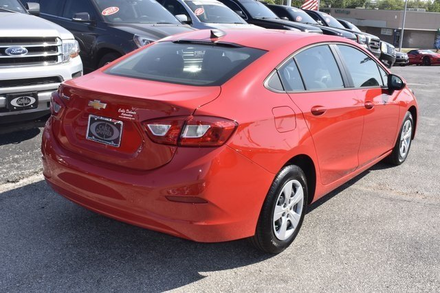 2018 Red Hot Chevrolet Cruze LS 1.4L 4-Cylinder Turbo DOHC CVVT Engine 4 Door Automatic FWD Sedan