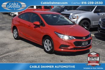 2018 Red Hot Chevy Cruze LS FWD 4 Door 1.4L 4-Cylinder Turbo DOHC CVVT Engine