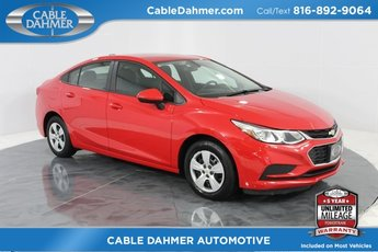 2017 Red Hot Chevy Cruze LS 4 Door FWD 1.4L 4-Cylinder Turbo DOHC CVVT Engine Sedan