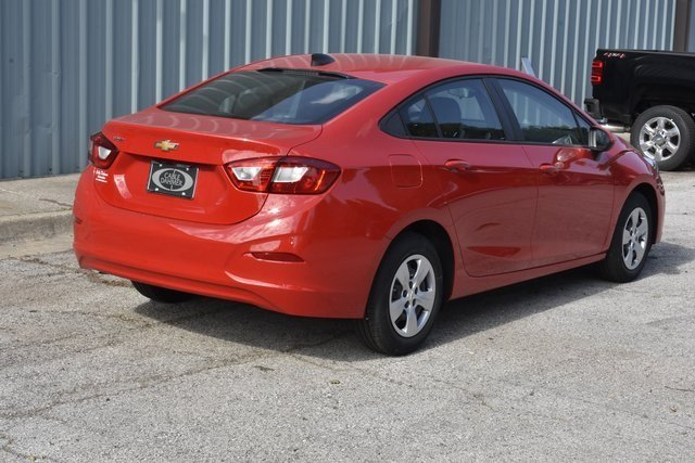 2018 Red Hot Chevrolet Cruze LS 1.4L 4-Cylinder Turbo DOHC CVVT Engine FWD 4 Door Automatic Sedan