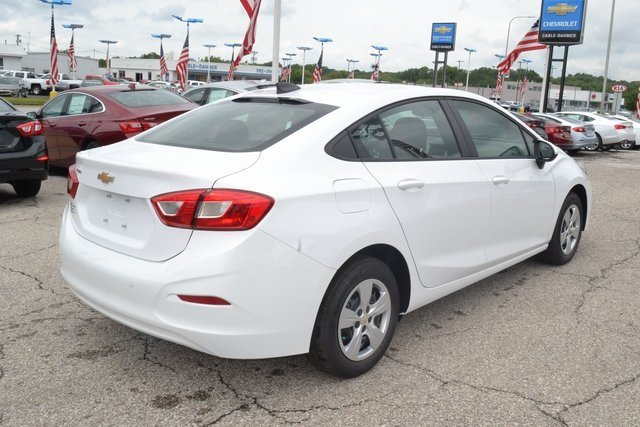 2018 Summit White Chevy Cruze LS Automatic 4 Door 1.4L 4-Cylinder Turbo DOHC CVVT Engine FWD Sedan