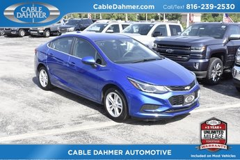 2018 Blue Metallic Chevrolet Cruze LT 4 Door 1.4L 4-Cylinder Turbo DOHC CVVT Engine FWD