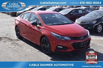 2018 Red Chevrolet Cruze LT FWD Sedan 1.4L 4-Cylinder Turbo DOHC CVVT Engine 4 Door Automatic