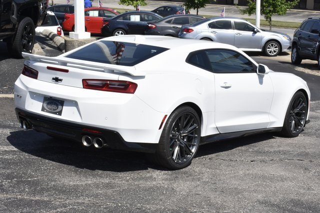 2018 Summit White Chevrolet Camaro ZL1 Automatic 2 Door 6.2L V8 Supercharged Engine RWD