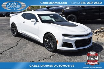 2018 Summit White Chevy Camaro ZL1 RWD Automatic 2 Door 6.2L V8 Supercharged Engine