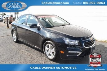 2015 Black Granite Metallic Chevy Cruze LT 4 Door FWD Sedan Automatic ECOTEC 1.4L I4 SMPI DOHC Turbocharged VVT Engine