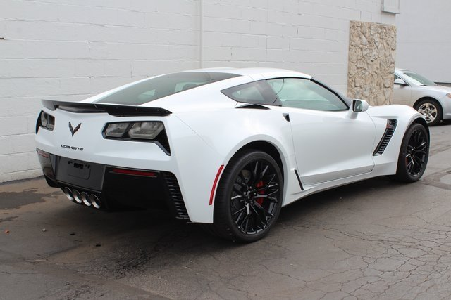 2019 Arctic White Chevy Corvette Z06 1LZ RWD Automatic Coupe V8 Supercharged Engine 2 Door