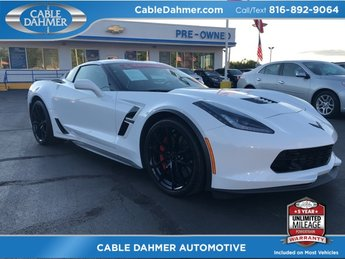 2017 Arctic White Chevy Corvette Grand Sport 2LT Automatic 2 Door Coupe 6.2L V8 Engine RWD