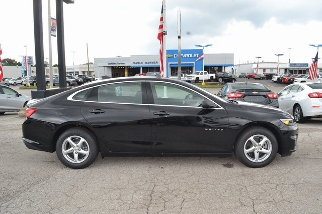 2018 Mosaic Black Metallic Chevy Malibu LS 4 Door Automatic Sedan