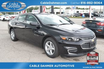 2018 Mosaic Black Metallic Chevrolet Malibu LS Sedan 4 Door 1.5L DOHC Engine