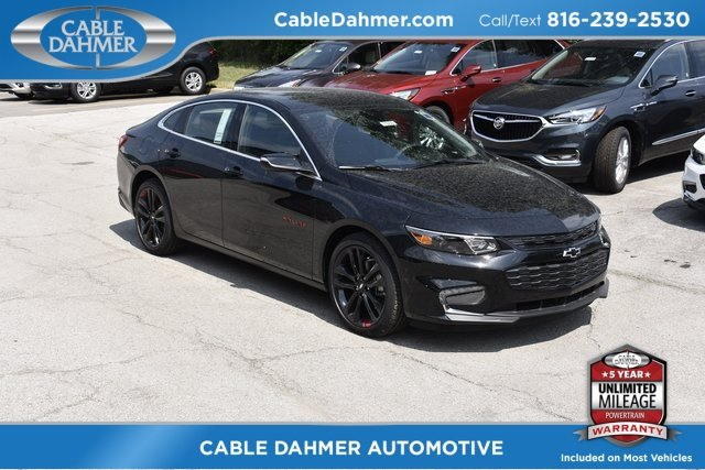 2018 Mosaic Black Metallic Chevy Malibu LT 4 Door FWD Sedan 1.5L DOHC Engine