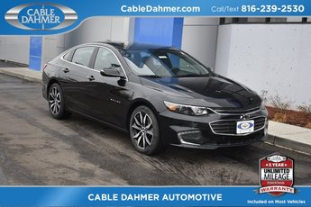 2018 Mosaic Black Metallic Chevy Malibu LT Sedan 1.5L DOHC Engine 4 Door Automatic FWD