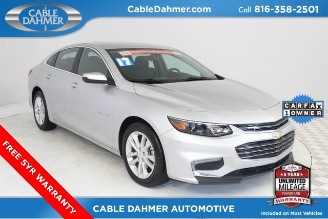 2017 Silver Ice Metallic Chevy Malibu LT 1.5L DOHC Engine 4 Door Automatic FWD