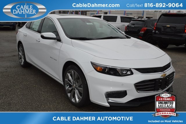 2018 Summit White Chevy Malibu Premier 2.0L 4-Cylinder DGI DOHC VVT Turbocharged Engine Sedan FWD 4 Door Automatic