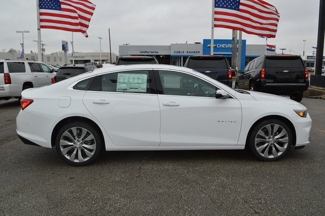 2018 Summit White Chevy Malibu Premier 2.0L 4-Cylinder DGI DOHC VVT Turbocharged Engine 4 Door FWD Sedan