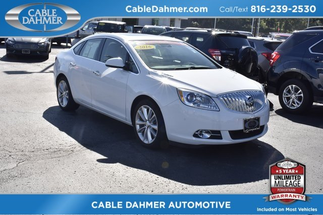 2016 Summit White Buick Verano Leather Group FWD ECOTEC 2.4L I4 SIDI DOHC VVT Engine Sedan