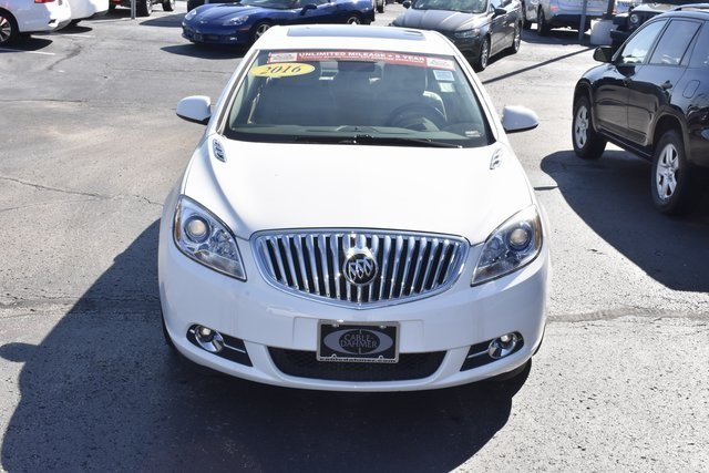 2016 Summit White Buick Verano Leather Group Sedan Automatic 4 Door
