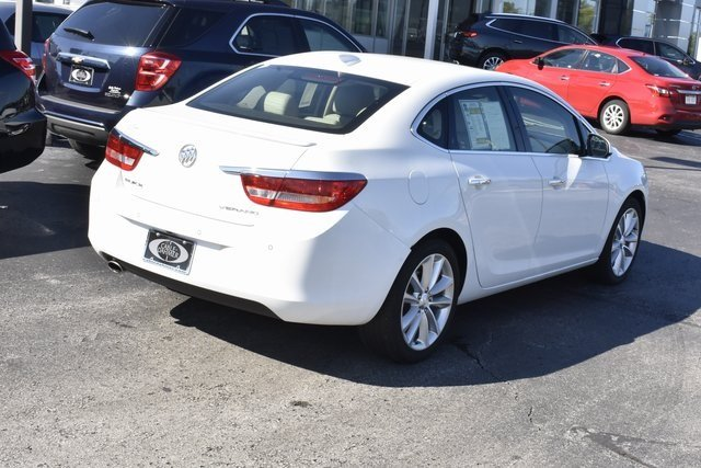 2016 Summit White Buick Verano Leather Group 4 Door Automatic Sedan FWD ECOTEC 2.4L I4 SIDI DOHC VVT Engine