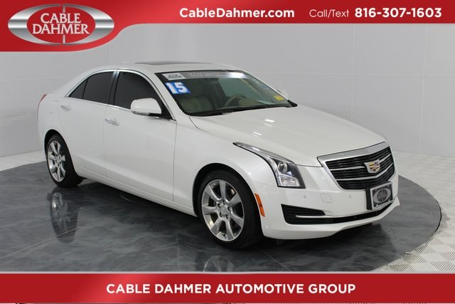 2015 Crystal White Tricoat Cadillac ATS Luxury RWD 2.5L I4 DI DOHC VVT Engine Automatic 4 Door Sedan RWD
