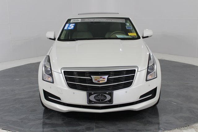 2015 Crystal White Tricoat Cadillac ATS Luxury RWD Sedan 2.5L I4 DI DOHC VVT Engine Automatic RWD 4 Door