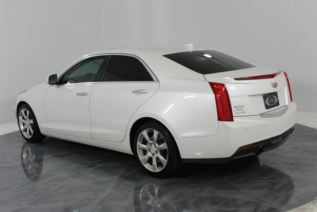 2015 Crystal White Tricoat Cadillac ATS Luxury RWD 4 Door RWD 2.5L I4 DI DOHC VVT Engine