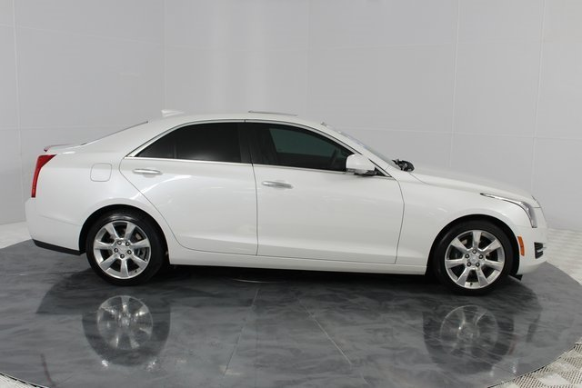 2015 Crystal White Tricoat Cadillac ATS Luxury RWD 2.5L I4 DI DOHC VVT Engine Sedan 4 Door Automatic RWD