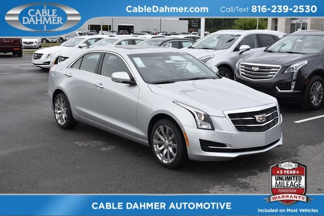 2018 Radiant Silver Metallic Cadillac ATS Luxury AWD 2.0L 4-Cylinder Turbocharged Engine AWD Sedan Automatic 4 Door