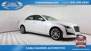 2018 Crystal White Tricoat Cadillac CTS Luxury RWD Sedan 4 Door 2.0L 4-Cylinder Turbocharged Engine RWD
